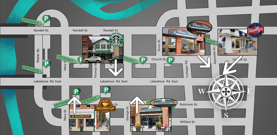 Downtown_Oakville-Coffeeshops-map