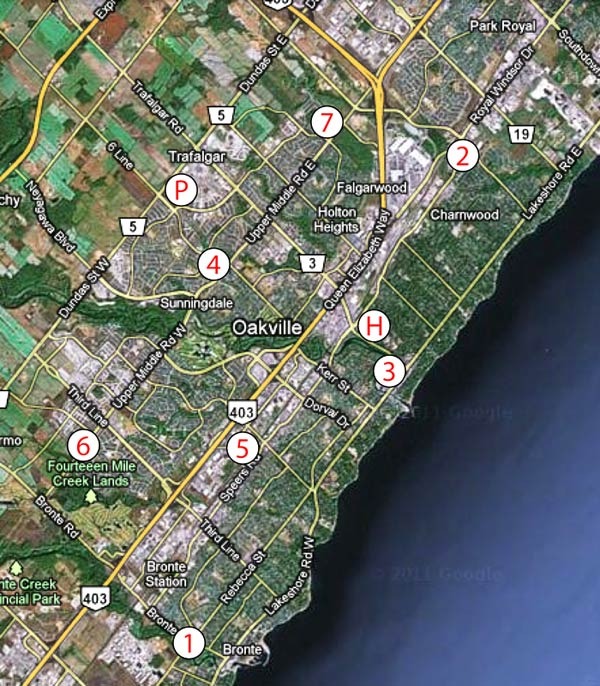 Fire Stations, Police and Hospital in Oakville Ontario